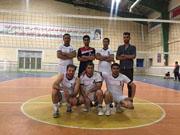 تیم والیبال شرکت توزیع نیروی برق ایلام بر سکویسوم جام رمضان ایستاد