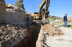 توسعه ۹۰۰ متر خط انتقال و شبکه توزیع آب در محله جدید دهستان ارمو دره شهر