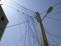 قطع برق محله جانبازان ایلام به علت سرقت انرژی بوده است