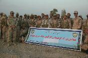 رزمايش پياده روي عملياتي 15 کيلو متري مرزبانان مهراني